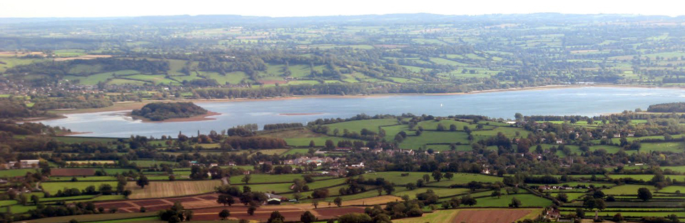 Chew Stoke and Chew Valley Lake from the air