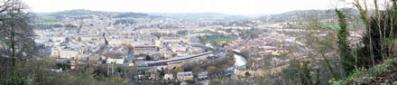 View of Bath City Centre from Beechen Cliff